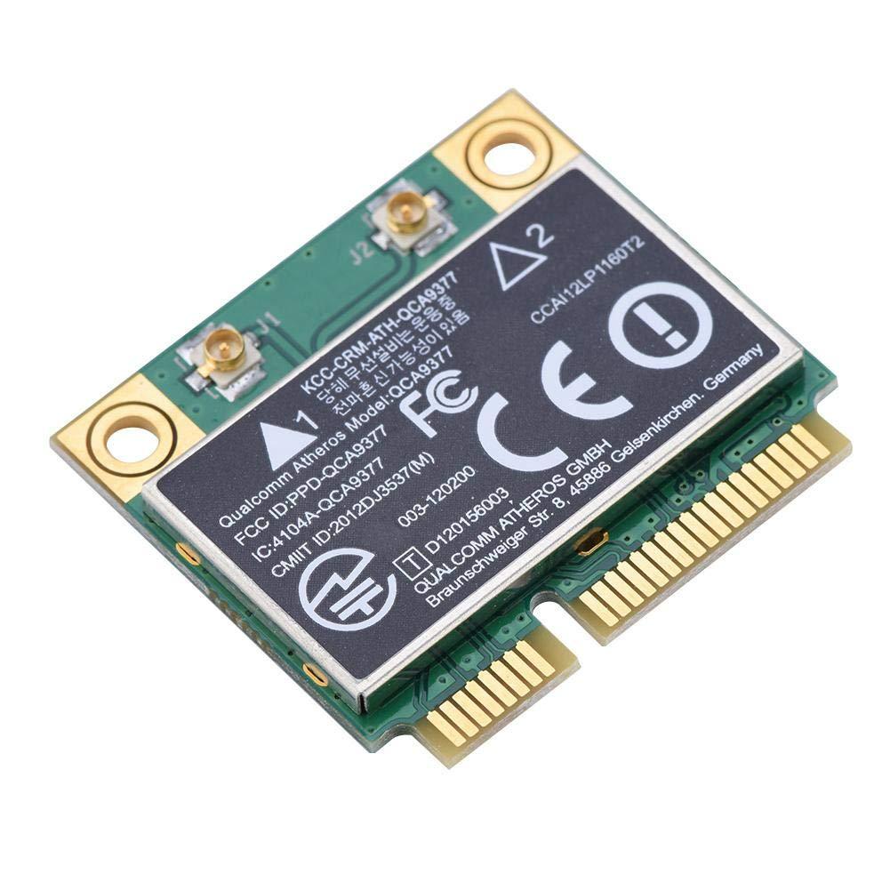 Garsent Scheda di Rete Mini WiFi PCI-E, Scheda di Rete Dual Band 2.4G / 5Ghz + Bluetooth 4.2 433Mbps WiFi Mini PCI-E Scheda Wireless per Windows 7/10.