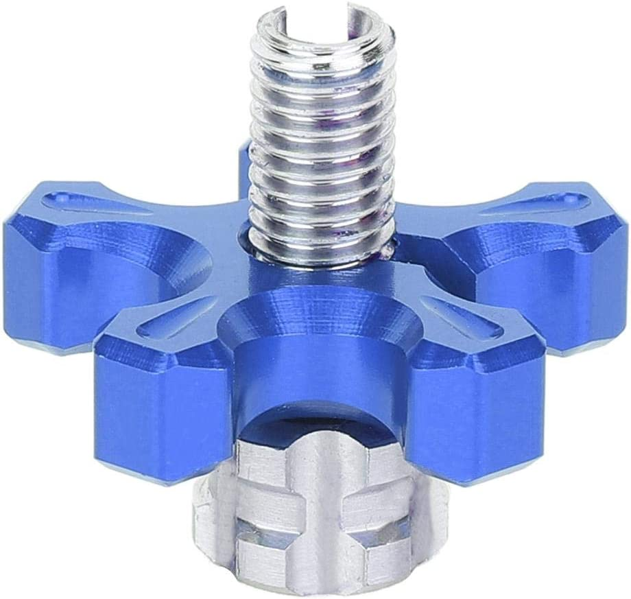 blue Qii lu Motorcycle Clutch Cable Adjustment Screw,Universal CNC Aluminum Alloy Clutch Wire Adjustment Cable