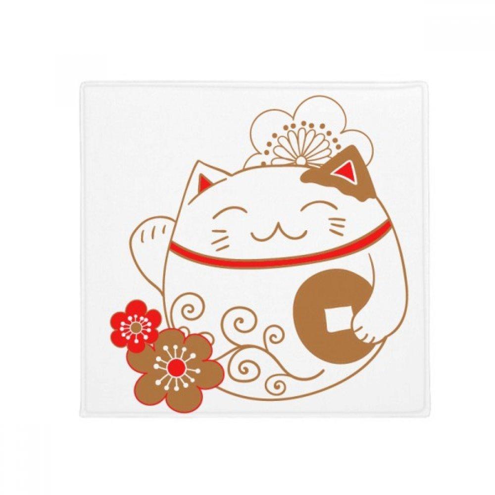 DIYthinker Japan Lucky Fortune Cat Flower Copper Anti-Slip Floor Pet Mat Square Home Kitchen Door 80Cm Gift
