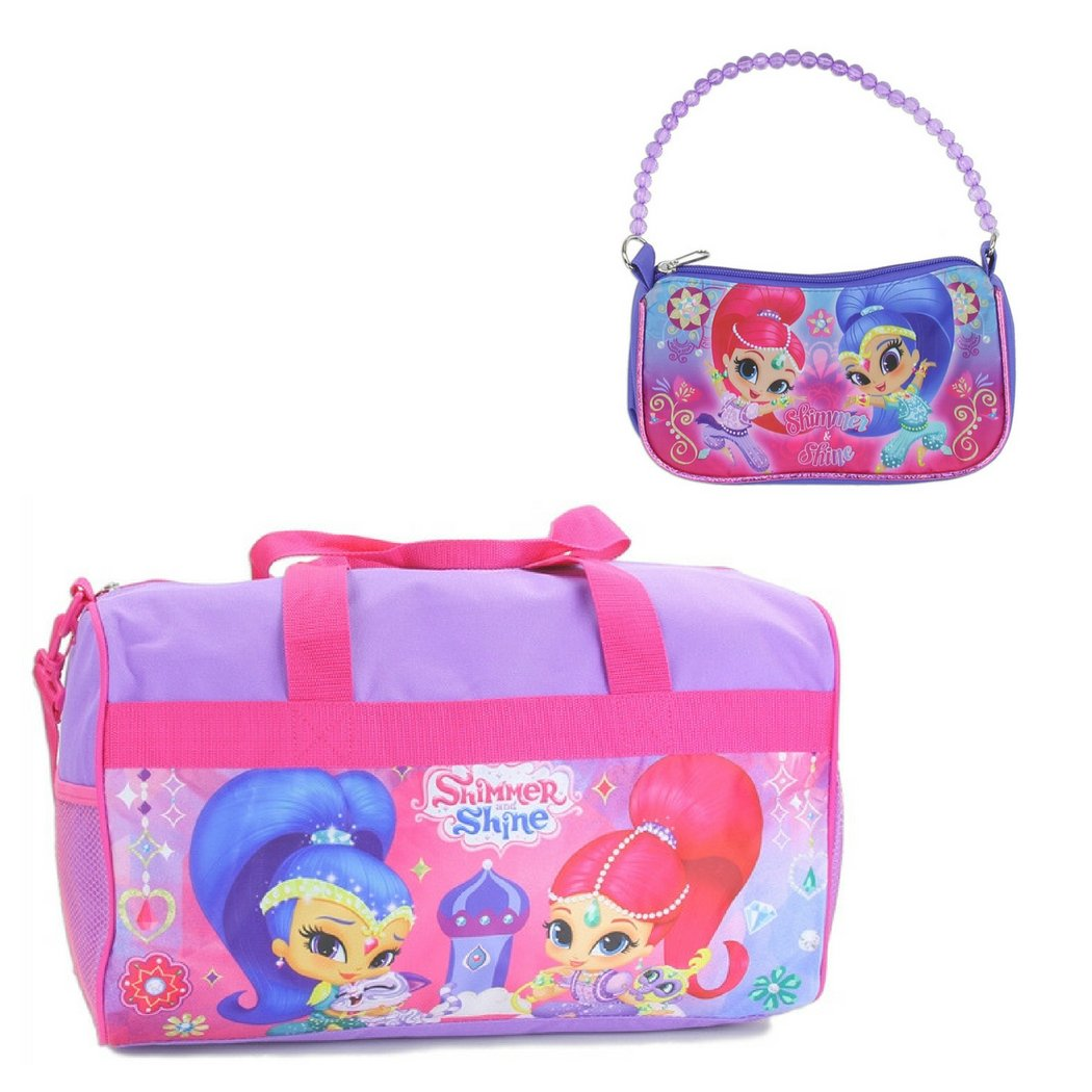 Shimmer and Shine Duffel Bag and Handbag Bundle Gift Set