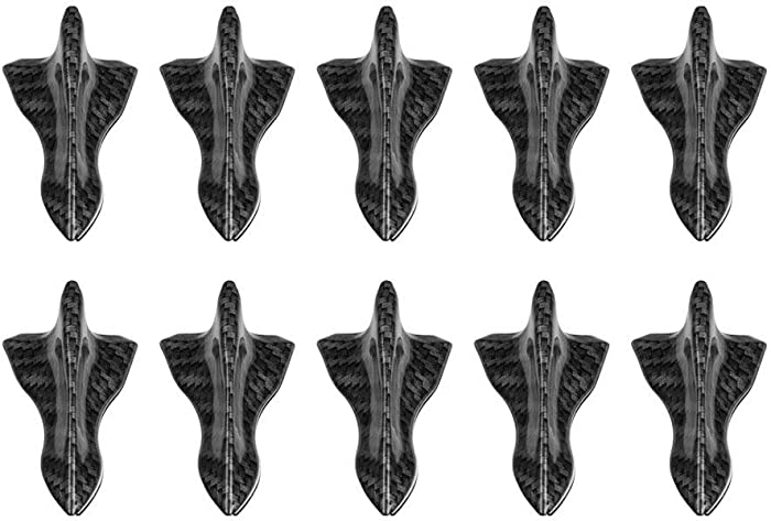 Tasan Racing Universal 10Pcs/Set Mini Decorative Shark Fins Roof Spoiler Wing Kit Air Vortex Generator Carbon Fiber