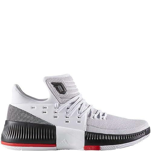 4620074cca6b0 adidas Dame 3 White/Black/Red Basketball Shoes 11.5: Amazon.ca ...