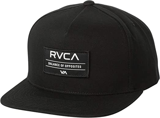 low priced f5148 dfcd0 ... low price amazon rvca mens territory snapback hat black one size  clothing 25f60 f336d