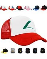 PopCrew Pokemon Cosplay Hat, Trucker, Snapback [Embroidered Team Trainer Hat]
