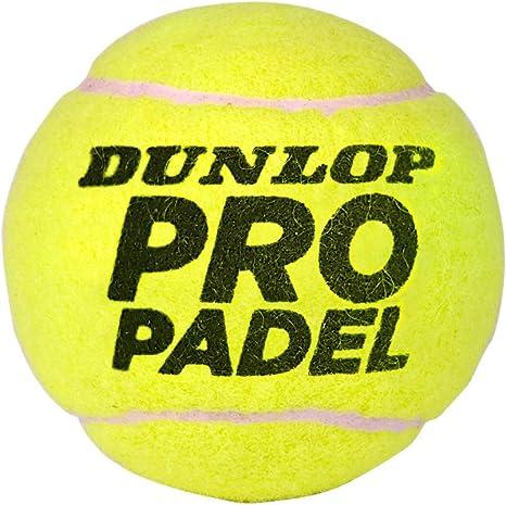 Dunlop Pro Pelotas Padel B3, Adultos Unisex, Amarillo, Bote 3 ...