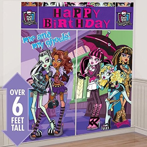 Scene Setters Wall Decorating Kit | Monster High Collection | Party Accessory -