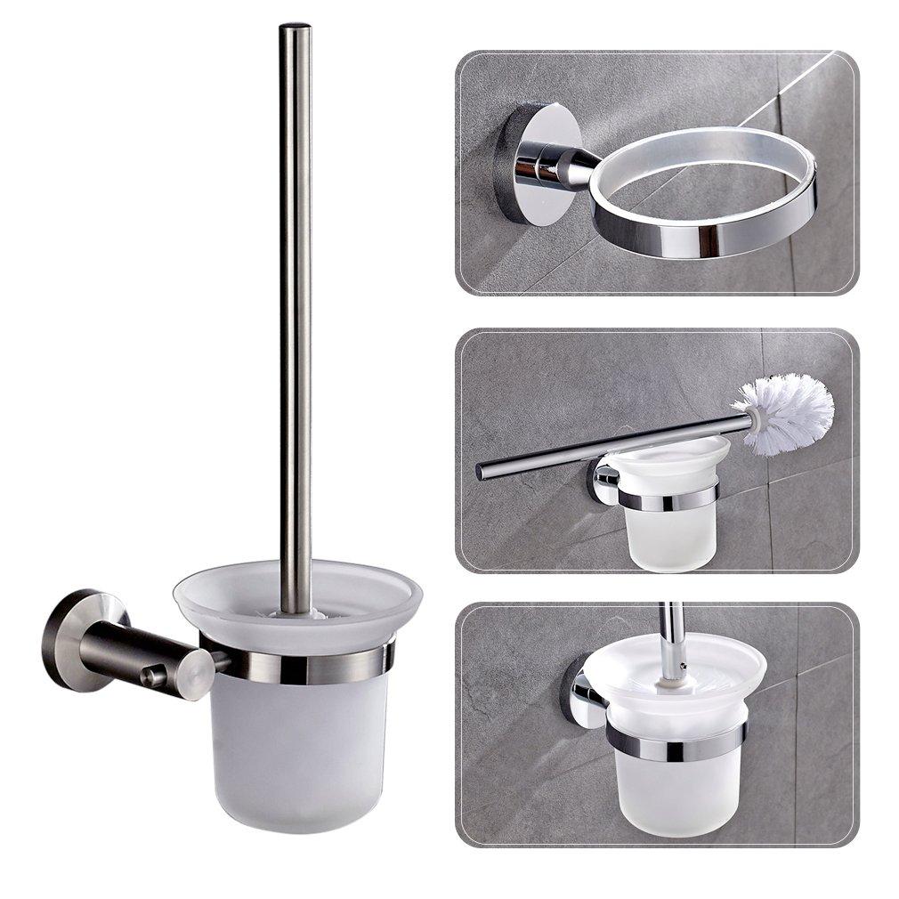 Extremely Auralum WC-Bürstenhalter Toilettenbürstenständer WC-Garnitur mit  LE59