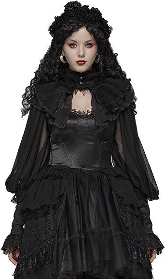 Women Goth Rave Cape  Role Play Costume Punk Jacket Shawl Shrug Top Fancy Dress