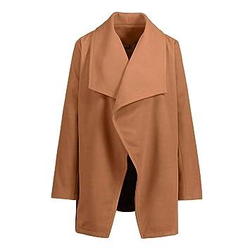 Cárdigan estilo otoño invierno para niñas, Sonnena ❤ Abrigo de lana de alta calidad para mujer otoño con bolsillo abrigo de lana de moda de invierno: ...