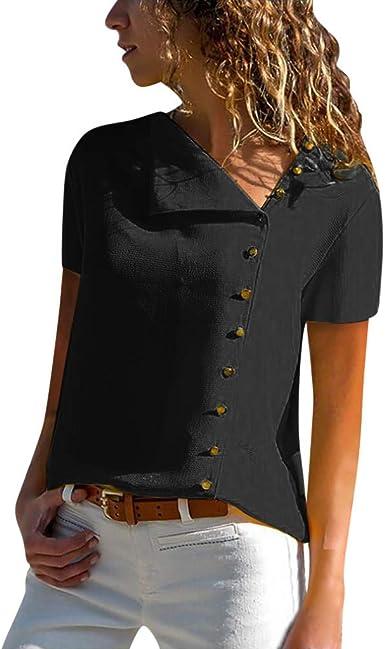 Teresamoon Womens Summer Blouse O Neck Short Sleeve Casual Tee Tops