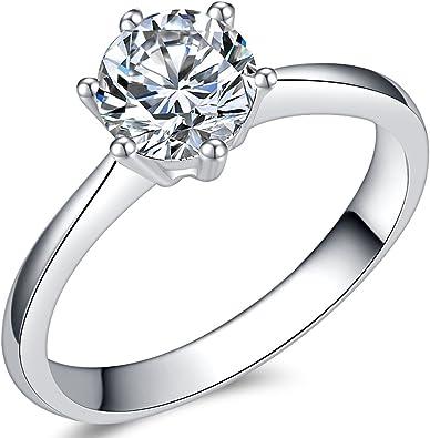 Amazon.com: Jude Jewelers - Anillo de compromiso solitario ...