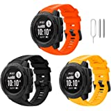 Songsier Compatible with Garmin Instinct Watch Bands, Soft and Durable Silicone Replacement Watch Band Strap Sport…
