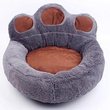 Ximger Cama Antideslizante Mascotas, con Forma de Pata, sofá Cama para Perro con Suave y Acogedor colchón de Felpa portátil para Perros pequeños y medianos: ...