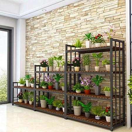 Soporte De Flores Estante Estantería Escalera Estantería Decorativas De Plantas Flores Para Decoración Exterior Interior Jardín Expositor Madera,Black-100 * 35 * 120: Amazon.es: Hogar