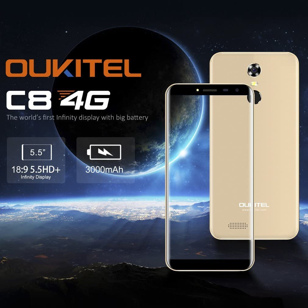 OUKITEL C8 Smartphone Libre 4G (Android 7.0, 5.5