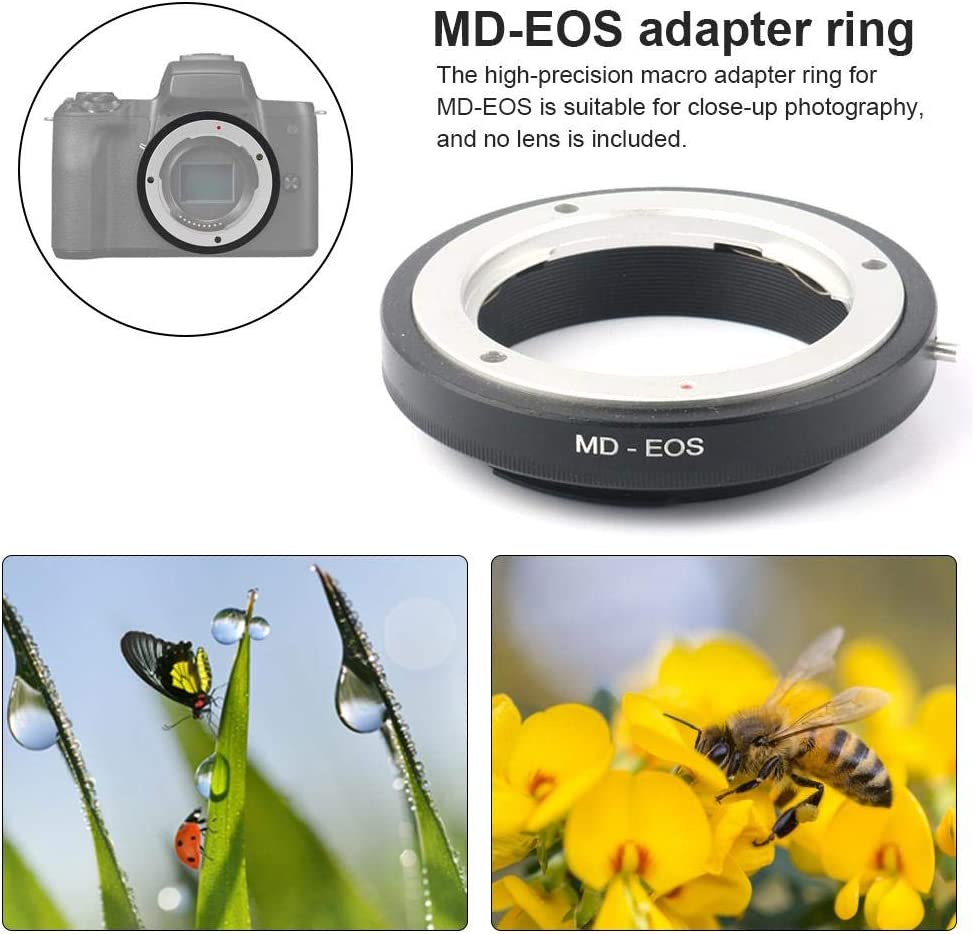 Yunhigh 2pcs Lens Mount Adapter for Optical Minolta MD MC Lens to Canon EOS Camera