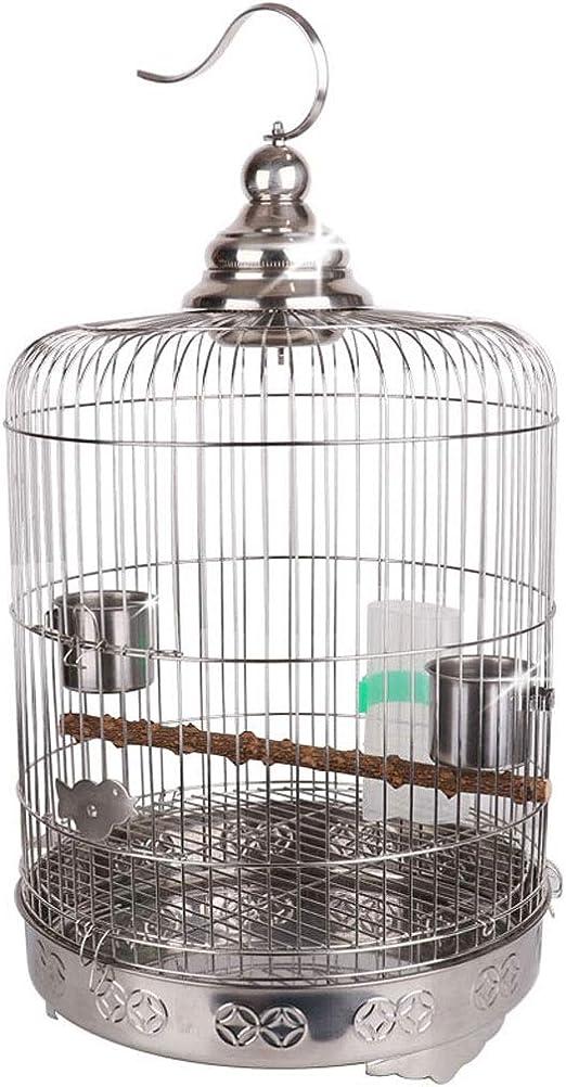 Hjd-cama para perros Aumentar Chasis Boutique Acero Inoxidable Loro Jaula de pájaros Estornino Tordo Xuanfeng Peonía Cría de Metal Jaula Conjunto Completo: Amazon.es: Hogar