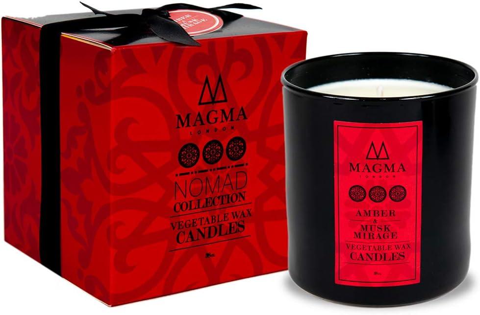 Magma London – Vela perfumada – Caja de Regalo Deluxe – Ámbar y almizcle Mirage 38 cl: Amazon.es: Hogar