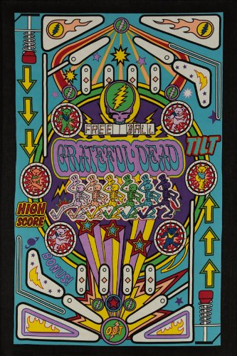 - Sunshine Joy 3D Grateful Dead Mini Tapestry Pinball Machine Wall Art 30x45 Inches