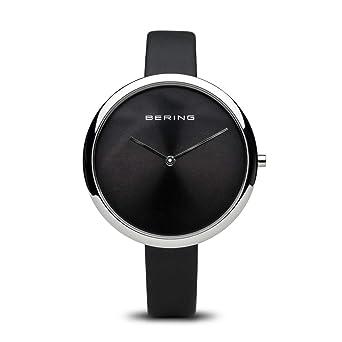 BERING Reloj Analógico para Mujer de Cuarzo con Correa en Cuero 12240-602: Amazon.es: Relojes