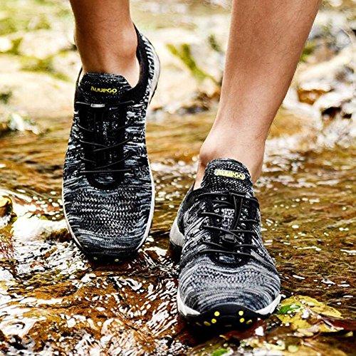 flyknit di Black da di e da antiscivolo modo wading tennis e traspirante di modo comodo di estate sport di leggero i pattini Le panno del indossare scarpe fFZRw8
