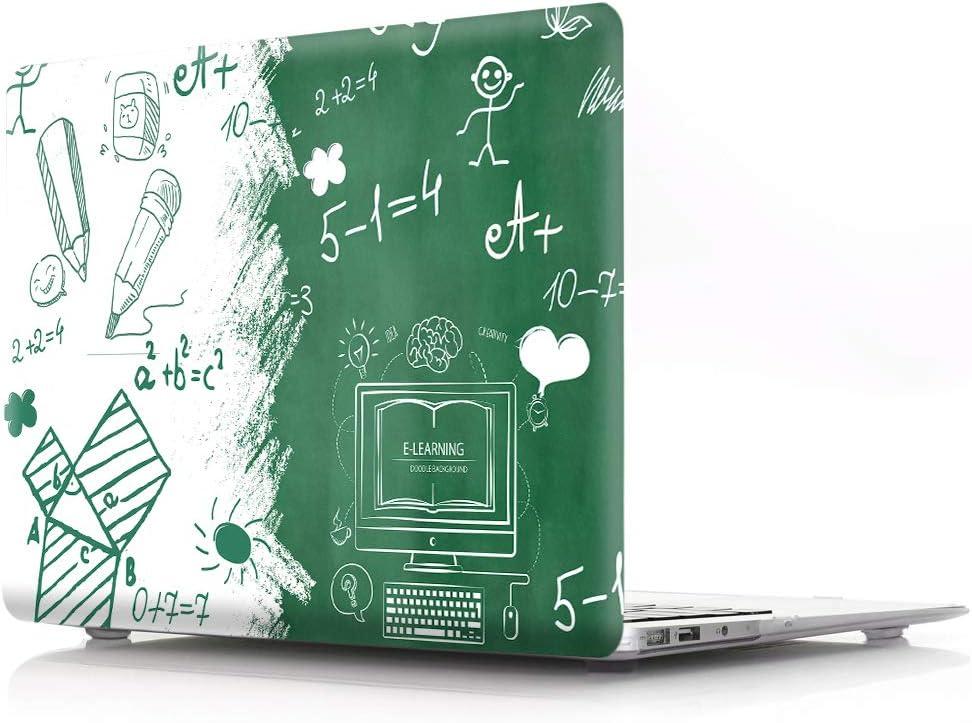 HRH Cartoon Math Design Laptop Body Shell Protective PC Hard Case for MacBook Air 13.3