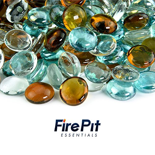 Shabby Chic - Blended Fire Glass Beads for Indoor and Outdoor Fire Pits or Fireplaces | 10 Pounds | 1/2 Inch