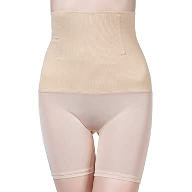 a1006e1563fb9 wewewin Women Shapewear Body Shaper Panties High Waist Slimming Underwear  Tummy Control Seamless Briefs Beige
