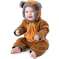 BeautyTop Baby Unisex Langarm Tier Overall Baby Herbst und Winter Plüsch Outfit Strampler mit Kapuzen Baby Mädchen Jungen Cute Kinderkleidungset