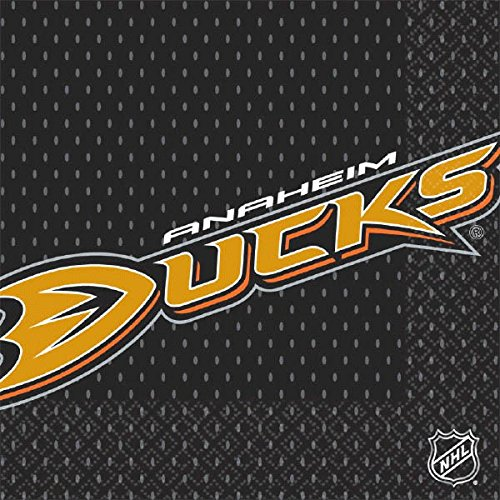 NHL Hockey Sports Anaheim Ducks Party Luncheon Napkins, 16 Pieces, Made from Paper, by Amscan Anaheim Gift Bag