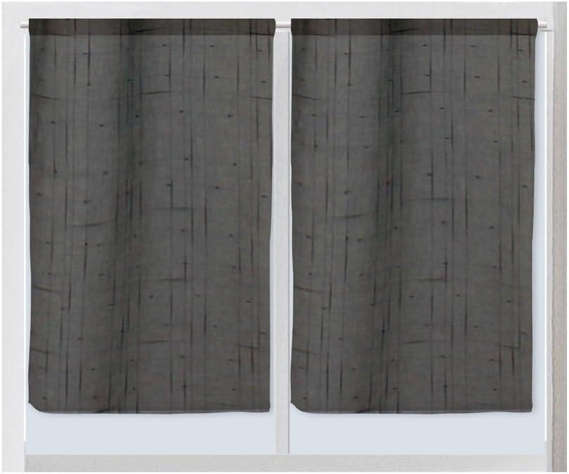 Grigio /Coppia di in poliestere,Lino//Poliestere 60/x 90/cm Soleil d Ocre 043670/Linen/ 60 x 90 cm