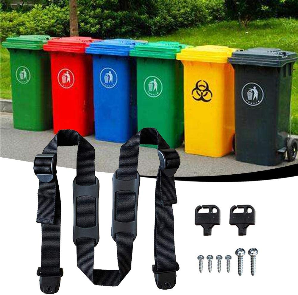 CARTEY Trash Can Lid Strap Bin Strap Garbage Lock Garbage Can Security System No More Mess No Tools Or Drilling Required Wheelie Bin Top Strap