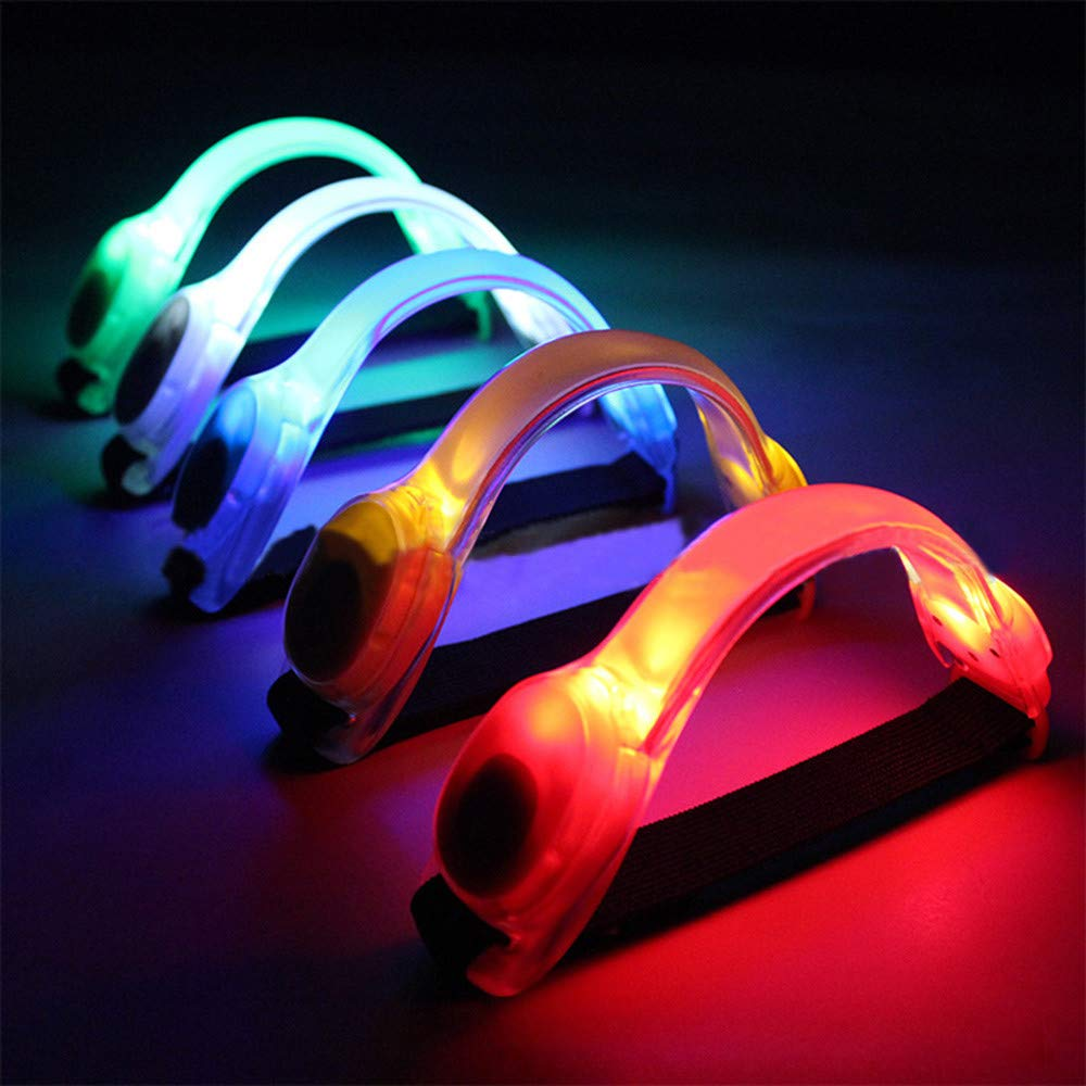 Glumes LED Armband, Glow in the Dark Waterproof Led Slap Bracelets Event Wristband For Men& Women, Night Safety Lights For Running, Jogging, Cycling, Hiking (Blue)