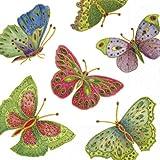 Caspari Servilletas de papel con diseño de mariposas, Tradicional, Ivory, Cocktail, 1