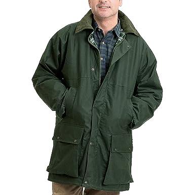 7ba0ee980db Check Lined Wax Padded Cord Collar Jacket Coat  Amazon.co.uk  Clothing