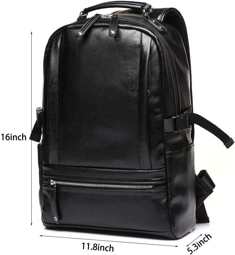 Black G/&L Anti-Theft Business Vintage Laptop Backpack 14 Inch Laptop Water-Resistant Travel Bag Anti-Glare Functional Rucksack Light-Weight Backpack for Men