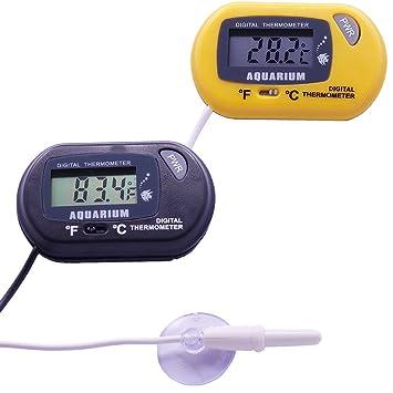molshine LCD termómetro Digital para acuario, pecera agua, terrario, sensor de temperatura ambiental