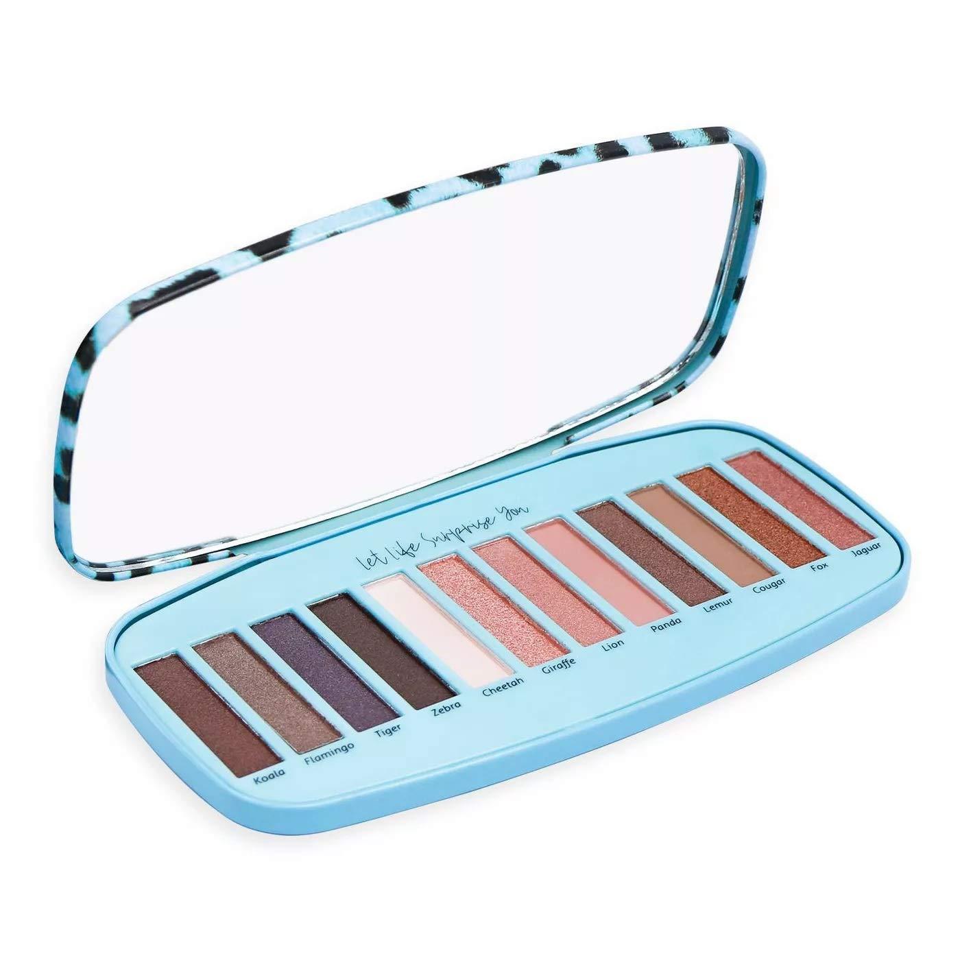 Cai Blue Animal Print Eyeshadow Palette – 15 Shades