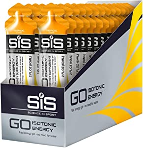 Science in Sport Energy Gel Pack, Tropical Flavor Sports Performance & Endurance Supplement Gels - 2 Oz - 30 Pack