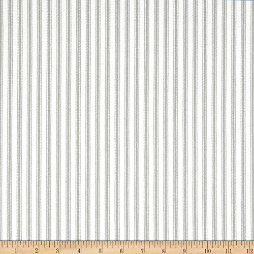 Waverly Home Decor Fabrics (Waverly Classic Ticking Nickel Fabric By The Yard)