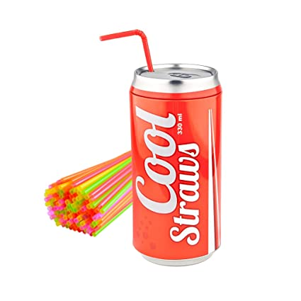 Balmes Vives M235374 - Dispensador pajitas Cool Straw Rojo