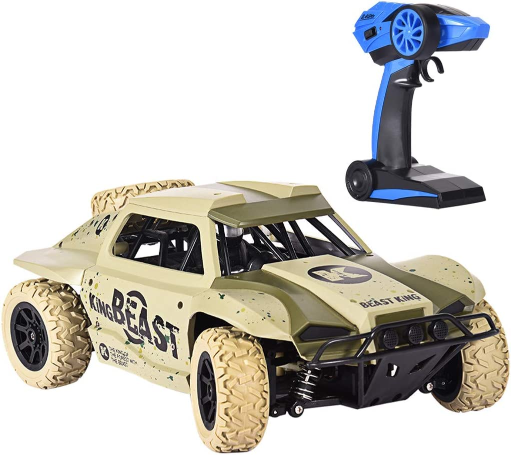 Elaco 1/18 2.4G 4WD Short Course Truck Desert Off-Road RC Car with Spare Tire RTR Electric Short Course Truck with Waterproof Electronics Vehicle - US Stock
