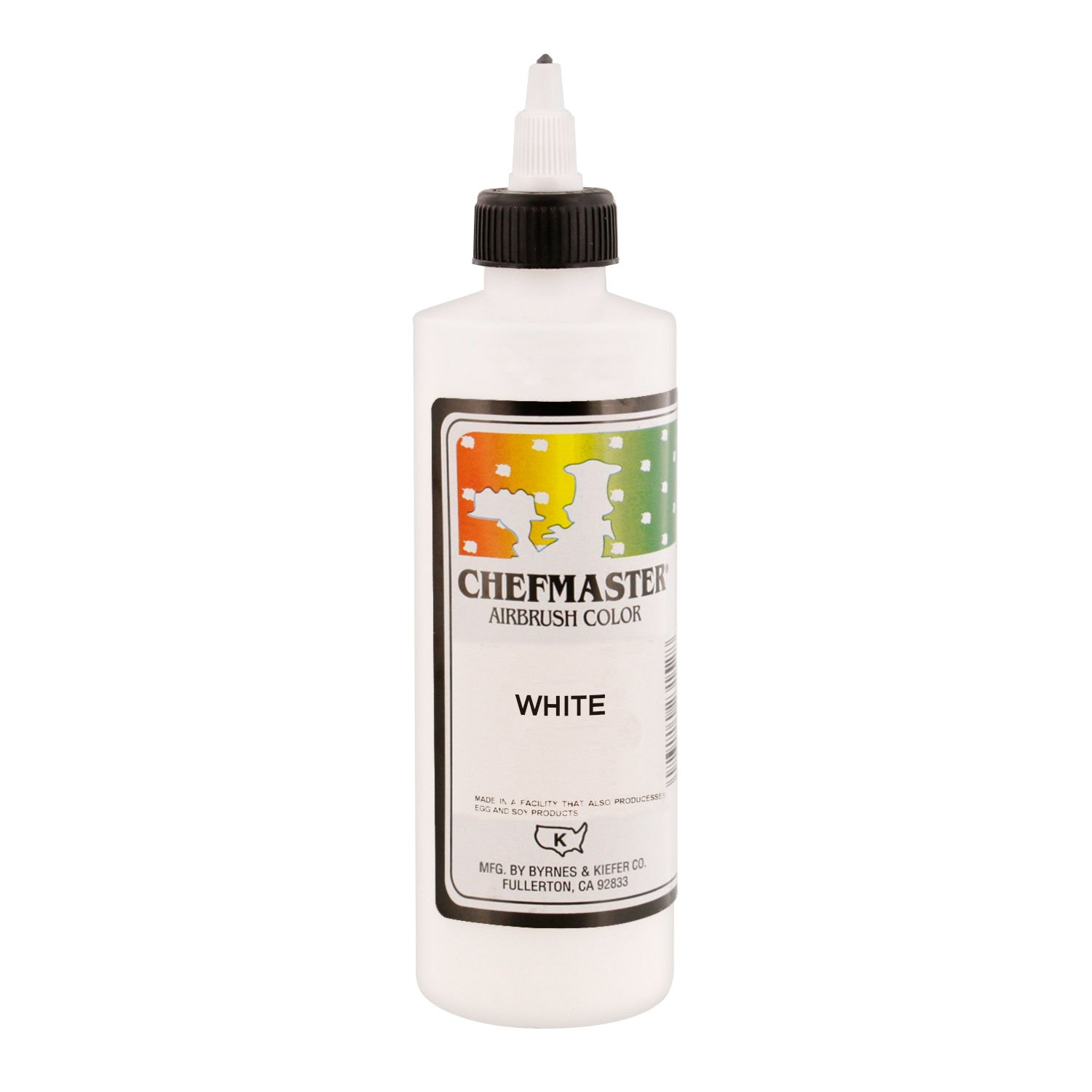 Chefmaster by US Cake Supply 9-Ounce Airbrush Cake Food Color White by U.S. Cake Supply