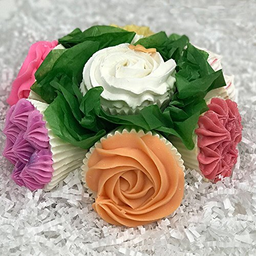 Charlene New York Rose Collection Cupcake Soap - Perfect Gift For Moms, Women,Teens, Birthdays, Graduation, Wedding, Anniversary Gifts And More! 7 Soap - 4 Ounces Each.