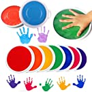 Gbell Colors DIY Ink Pad Stamp,Finger Painting Craft Cardmaking Large Round for Kids Children, Assorted 8 Colors