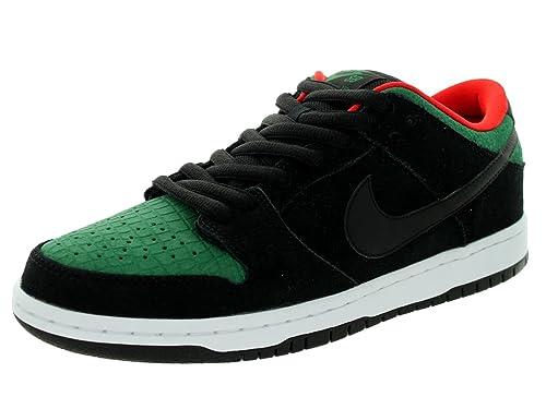 Nike Men's Dunk Low Pro SB Black/Black/Gorge Green Skate Shoe 9.5 Men