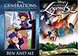 Disney American Story DVD Legends & Generations Ben & Me / Paul Bunyan / Johnny Appleseed / Brave Engineer / John Henry
