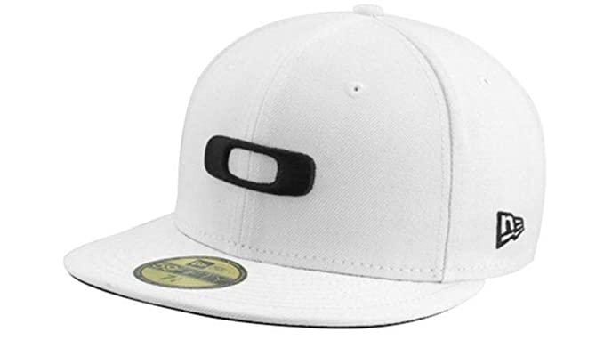 Oakley Men s Square O New Era 59Fifty Fitted Hat Cap - White Black ... d12928ab15e