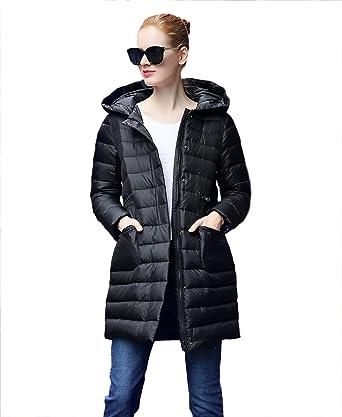 UAISI Damen Gänsedaunen Mantel Dicke Winterjacke