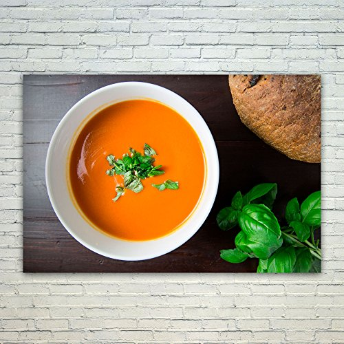 Westlake Art Soup Food - 12x18 Poster Print Wall Art - Modern Picture Photography Home Decor Office Birthday Gift - Unframed 12x18 Inch (Homemade Tomato Bisque)